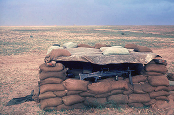 6. Tuy Hoa AB: 31st SPS, perimeter Bunker withM60. Photo by Ed Barker. 1966-1967.