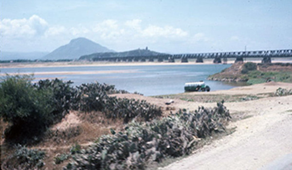 10. Tuy Hoa AB: Bridge. Photo by Ed Barker. 1966-1967.