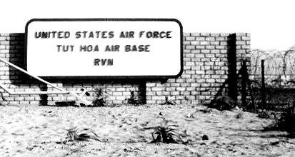 1. Tuy Hoa AB, Main Gate sign. Photographer: Don Graham, LM 7, TK, TUY, 31st SPS. 1968-1969.