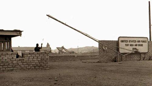 2. Tuy Hoa AB, Main Gate. Photographer: Don Graham, LM 7, TK, TUY, 31st SPS. 1968-1969.