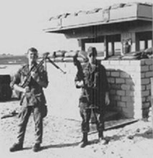 4. Tuy Hoa AB, Main Gate. Photographer: Don Graham, LM 7, TK, TUY, 31st SPS. 1968-1969.
