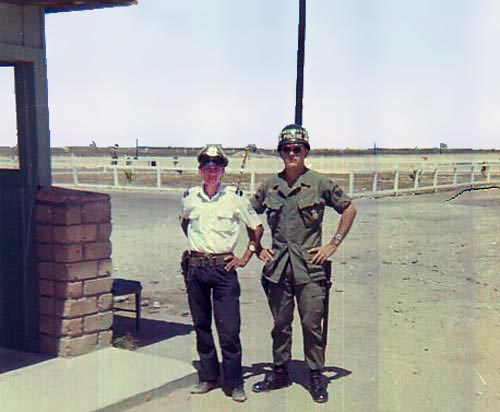2. Tuy Hoa AB, Main Gate. Henry with QC. Photo by: Henry Lesher, 1968-1969.