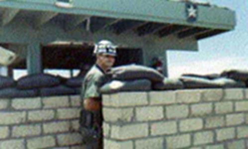 6. Tuy Hoa AB, Main Gate. SP Airman Billy Roberts. Photographer: James Shepherd. 1968-1969.