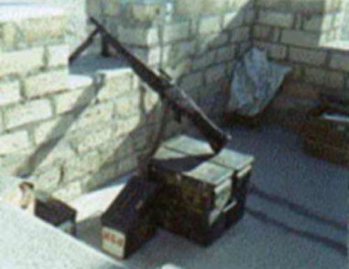 7. Tuy Hoa AB, Main Gate. M-60 and Ammo Boxes. Photographer: James Shepherd. 1968-1969.