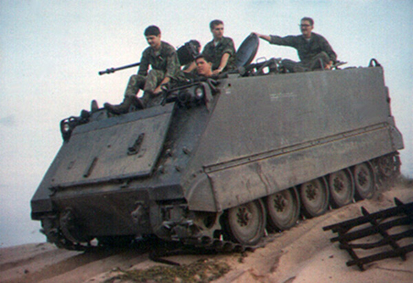 4. Tuy Hoa AB: M113, sand dune. 1969-1970.