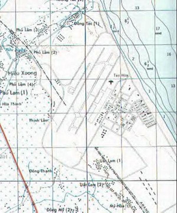 16. Tuy Hoa AB: Map. Ken deRussy. 1969-1970.