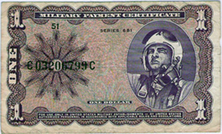 25. MPC: One Dollar (front).