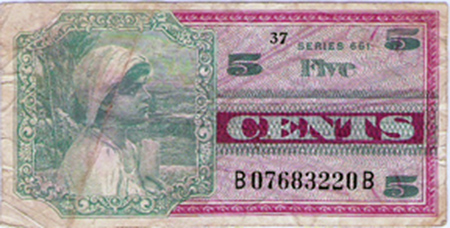28. MPC: Five Cents (front).