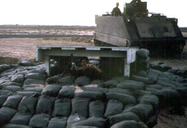 11. Tuy Hoa AB, Perimeter West Tower and APC. Photo by: Domenic Sebben Jr, NT, 14th SPS; TUY, 31st SPS, 1969-1970.