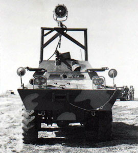 12. Tuy Hoa AB, M113, with Searchlight and M-60. Photo by: Sheperd, Tuy Hoa AB, 31st SPS.