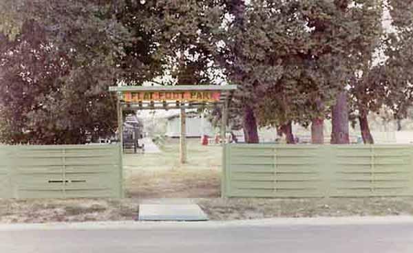 5. Ubon RTAFB. Entrance to SP Flat Foot Park, near the hooch area. 1970. Photographer: Kelly Bateman, LM 118, UB, 8th SPS K9. 1970-1971.