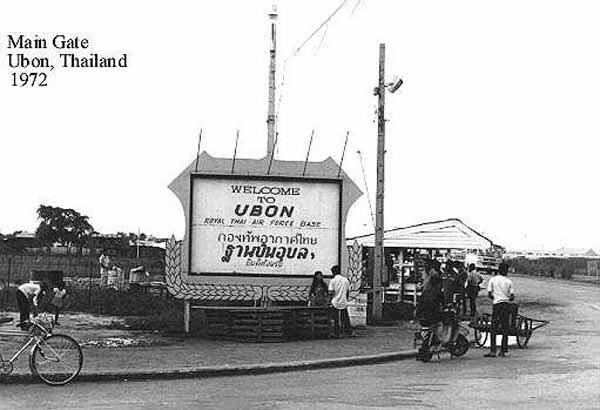 1. Ubon RTAFB, Main Gate. Photographer: Bob Wollman. 1971-1972
