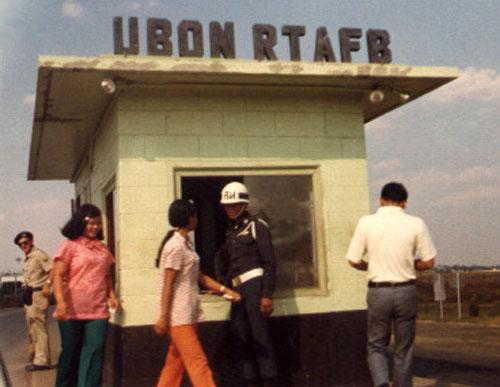 2. Ubon RTAFB, Main Gate. 1973. Photographer: D.J. Tollstrup.