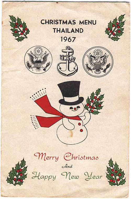 1. Christmas and Happy New Year 1967 Card and Menu. Cover, 1967. Submitted by Ray Rash. 1967.