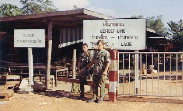 9. Ubon RTAFB. Thailand/Laos Border Gate. Photographer: Everett (Willie) Squires, LM 305, UB, 8th SPS HW, 1971-1972.