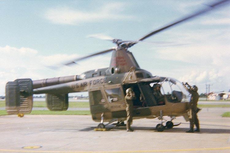 8. HH-43F Huskie Pedro 33, landing. Day Recon Flight.