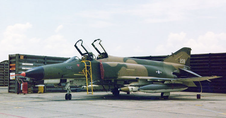 10. F-4E Phantom, Tail Number 72-208.