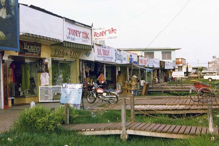 23. Strip Malls outside the Main Gate, Udorn RTAFB, 1975.