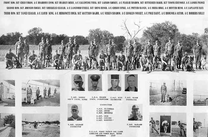 1. U-Tapao RTAFB. USAF First Patrol Dog Class, Lackland AFB, Texas. Sept. 1968.