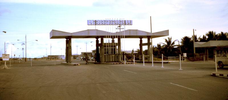 2. U-Tapao RTAFB, Main Gate. Wide View. Photographer: John M. Homa. 1970-1972.