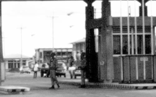 4. U-Tapao RTAFB, Main Gate. Closeup. Photographer: John M. Homa. 1970-1972.