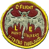 I've been meaning to do this for a while. Anyhow, from 75 thru 76, C-Flight Law Enforcement at the 635 SPS, U-Tapao (my flight!) had a locally approved flight patch. Although one of our flight members designed it, my memory of precisely who is long gone. This patch is not on the site and I've been meaning to send it in. By the by, although C-Flight LE was also called Tiger Flight, only C-Flight Security wore the Tiger patch we do show. Also, the camo TSF-SPS patch was worn till 1976 (we show 75). Wayne LM 559.