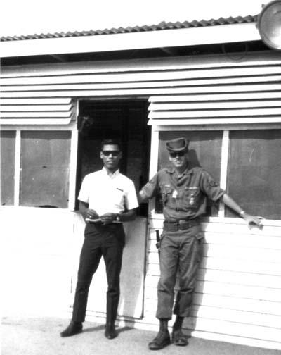 8. U-Tapao RTAFB, Main Gate. 1968. Photo by: William Bever, UT, 635th SPS.