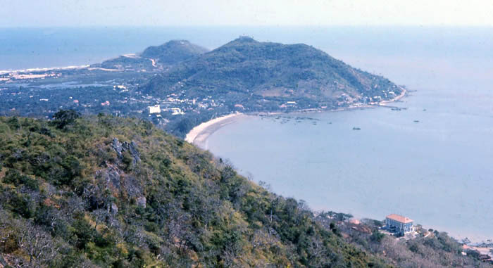 Vung Tau, Cap St. Jacques view. Madam Ky's home, bottom-right area. MSgt Summerfield: 12