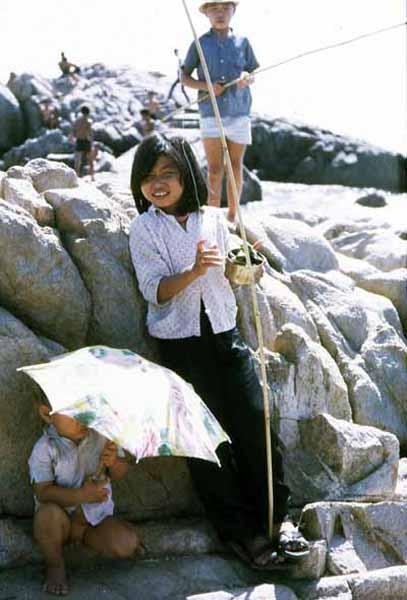 Vung Tau fishing village and kids fishing. MSgt Summerfield: 19
