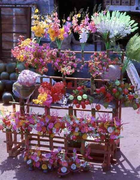 Vung Tau marketplace flowers. MSgt Summerfield: 05