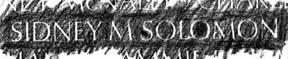 Wall Rubbing: SSgt Sidney Morton Solomon, LOD 28 Jan 1970.