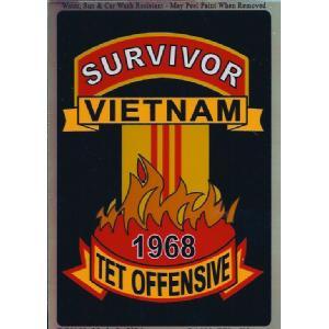 Survivor Vietnam Tet Offensive 1968 Sticker 2-3//4X4